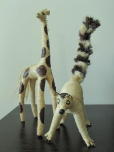 Gerard,the Giraffe  and  Zebu,the lemur