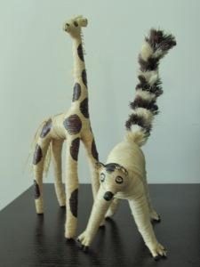 Gerard,the Giraffe  and  Zebu,the lemur
