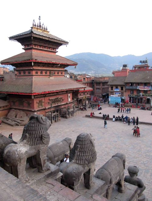 Bhairawa Temple and the Dance Platform in the City Square