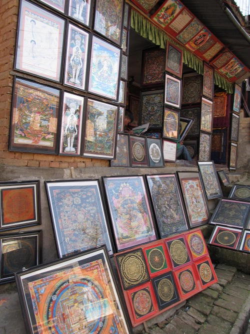 A Workshop of Thanka Paintings