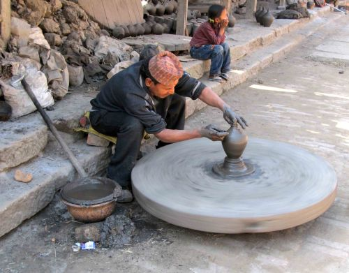 Potter's Wheel at Work