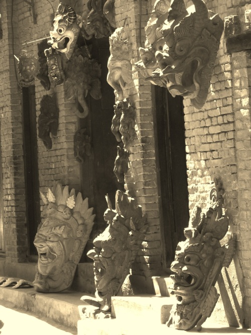 Wooden Masks in Patan