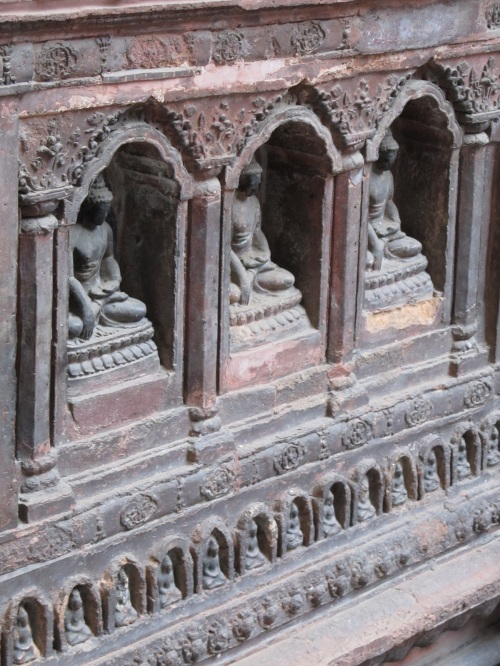 Buddha in Terracotta Relief, MahaBuddha Temple,Patan