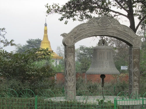 Burmese Monastery in the back ground