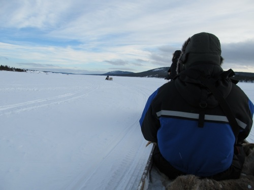On the  Frozen River Torne, Heading for the Sami Camp