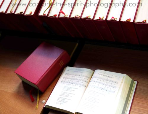 Stack of Bibles Inside Kiruna Kyrka
